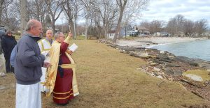 Father Kelly performs Blessing of the Waters in Marblehead
