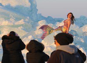 Lake Erie Mermaid on Ice