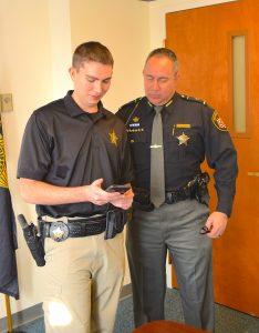 Deputy Jeffrey Griffin and Sheriff Steve Levorchick