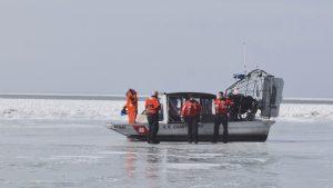 Ferrying Lake Erie Ice Fishermen