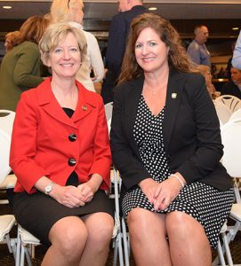 Dir., Mary Mertz (left) and Chief Kendra Wecker